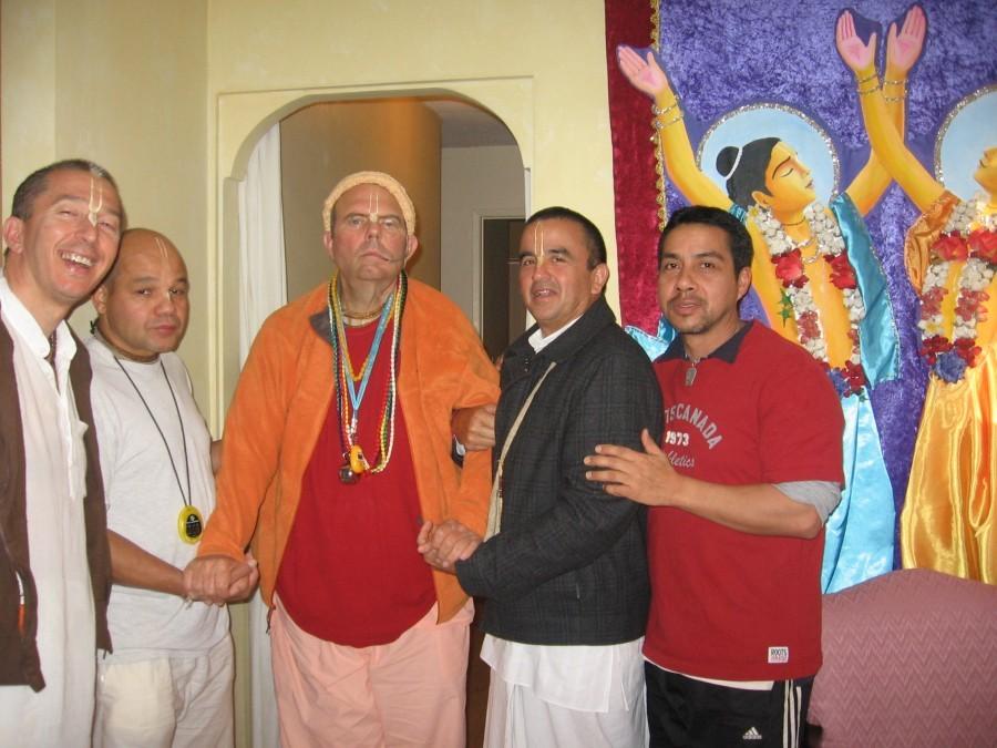 With Jayapataka Swami, Los Angeles, January 2010