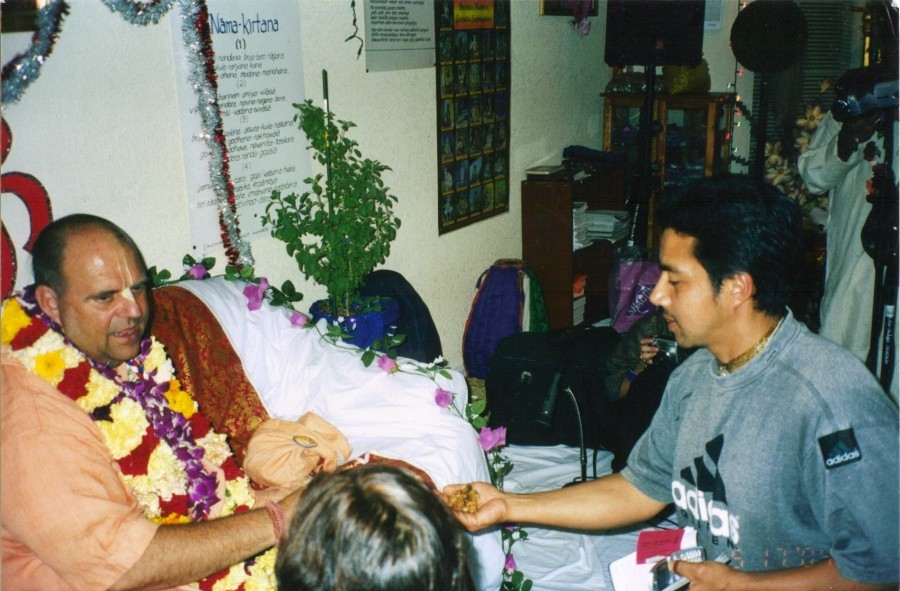 With Jayapataka Swami, Sacramento
